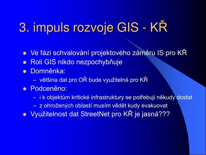 3. impuls rozvoje GIS - KŘ