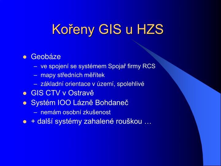 Kořeny GIS u HZS