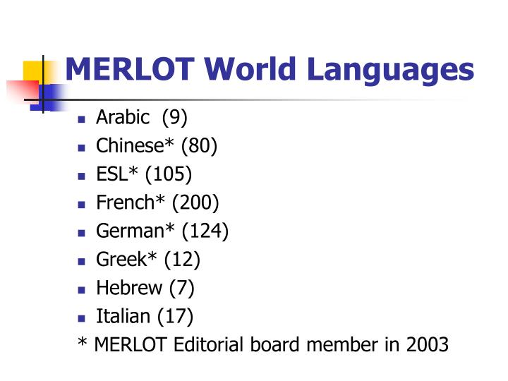 MERLOT World Languages