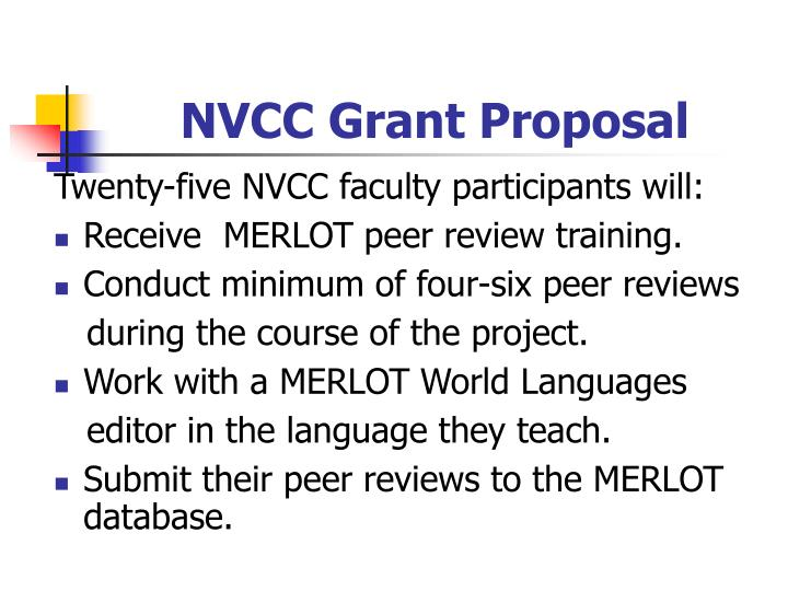 NVCC Grant Proposal