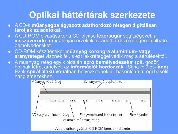 Optikai háttértárak szerkezete