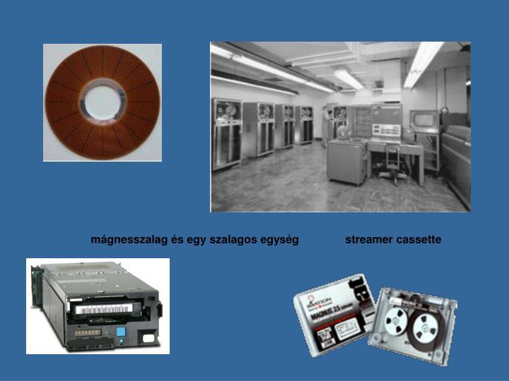 mágnesszalag és egy szalagos egységstreamer cassette