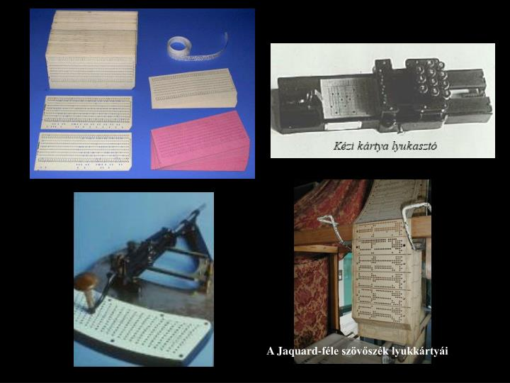 A Jaquard-féle szövőszék lyukkártyái