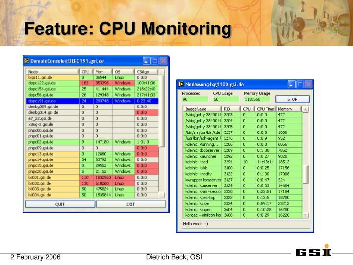 Feature cpu monitoring
