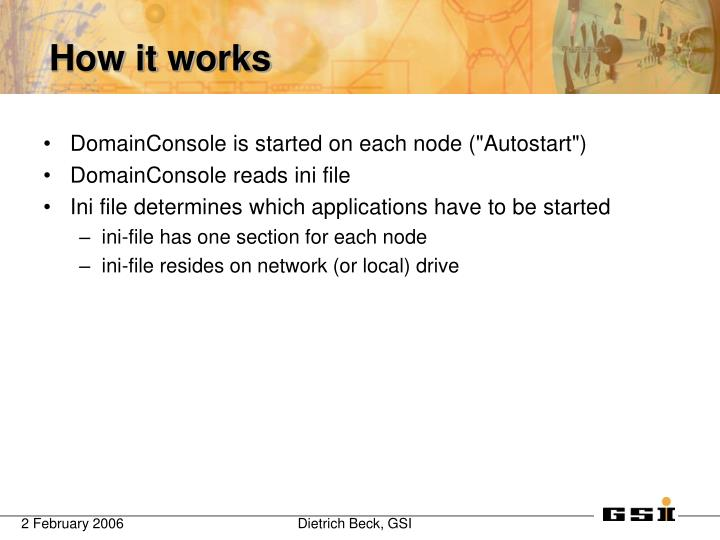 "DomainConsole is started on each node (""Autostart"")"