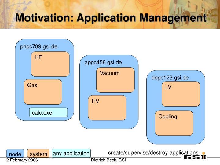 Motivation: Application Management