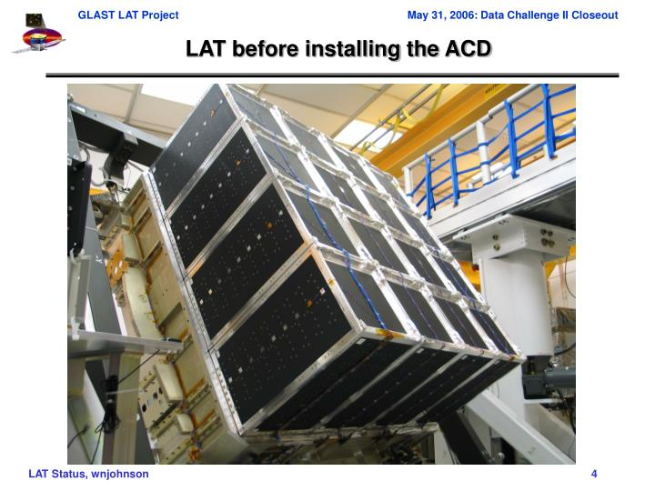 LAT before installing the ACD