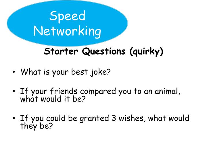 Speed Networking