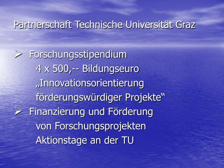 Partnerschaft Technische Universität Graz