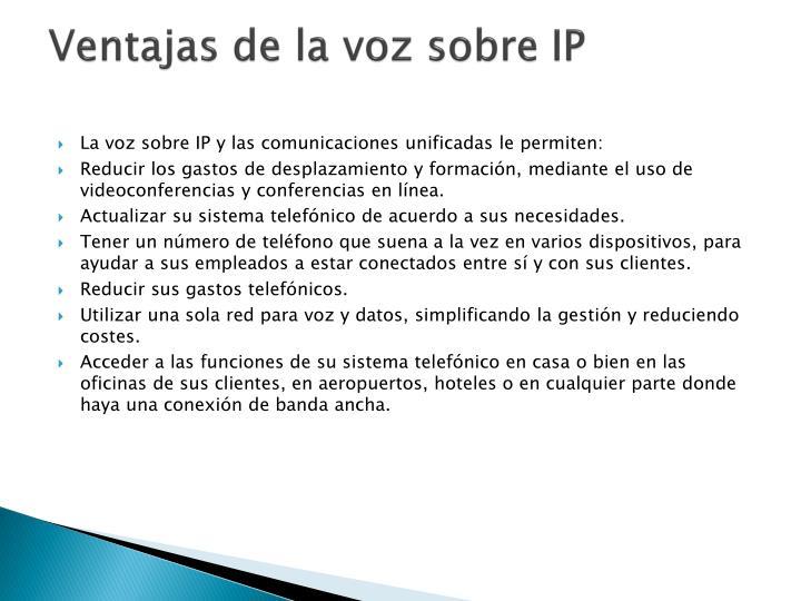 Ventajas de la voz sobre IP