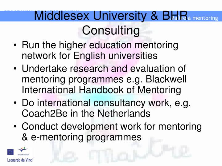 Middlesex university bhr consulting