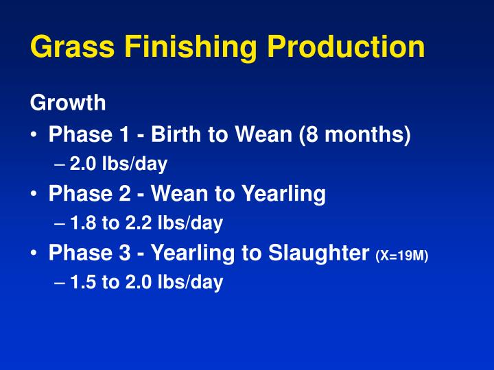 Grass Finishing Production