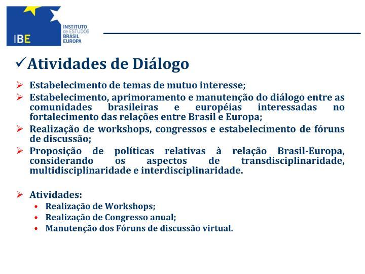 Atividades de Diálogo
