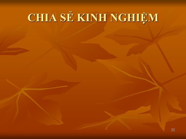 CHIA SẺ KINH NGHIỆM