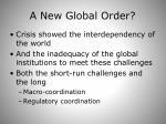 a new global order