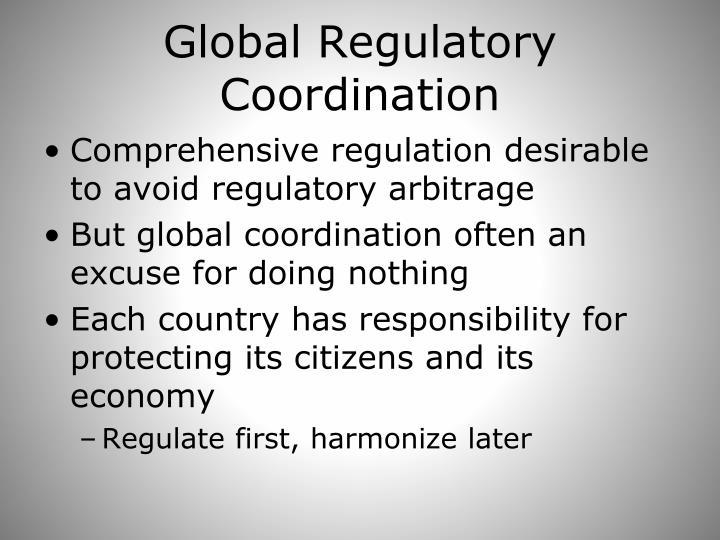 Global Regulatory Coordination