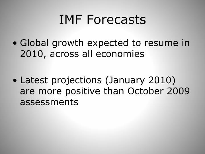 IMF Forecasts
