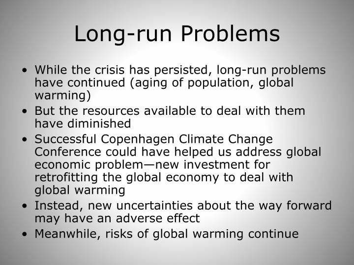 Long-run Problems