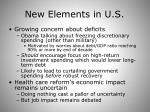 new elements in u s