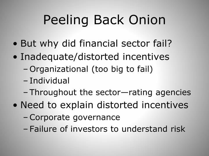 Peeling Back Onion