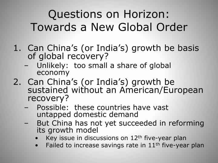 Questions on Horizon:
