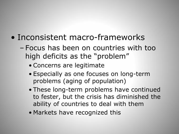Inconsistent macro-frameworks