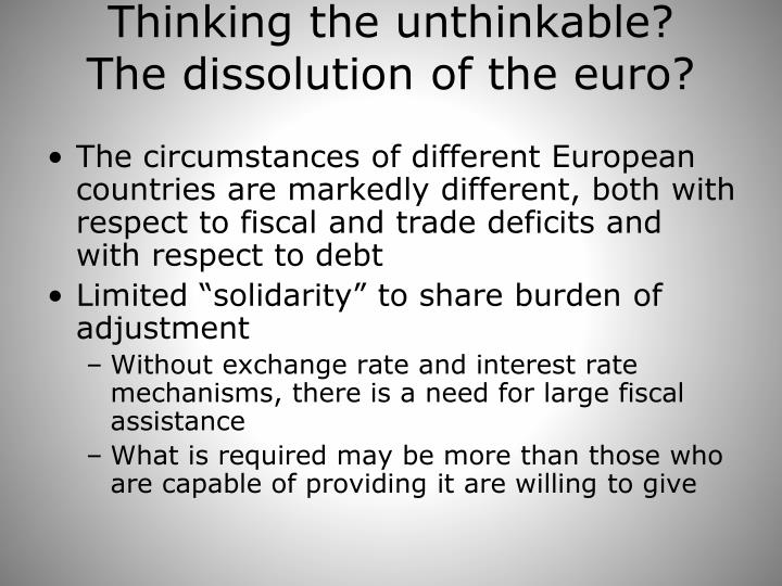 Thinking the unthinkable?