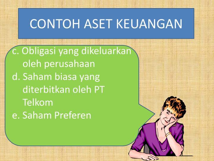 CONTOH ASET KEUANGAN