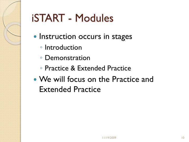 iSTART - Modules
