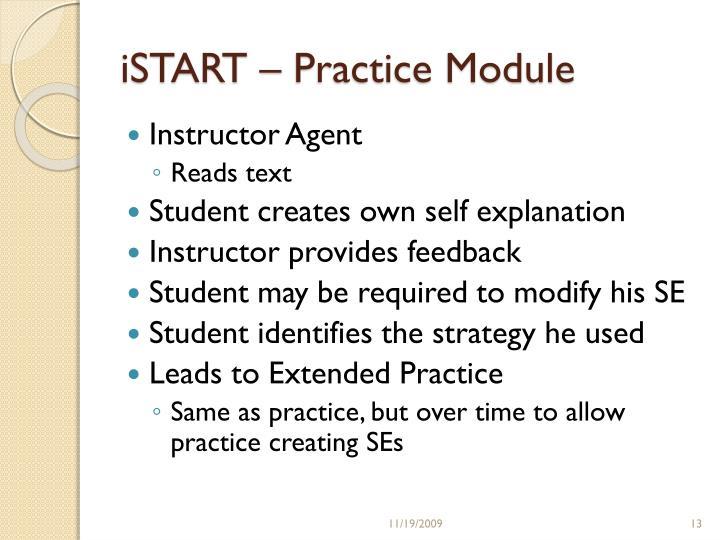 iSTART – Practice Module