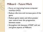 miboard future work