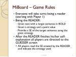 miboard game rules