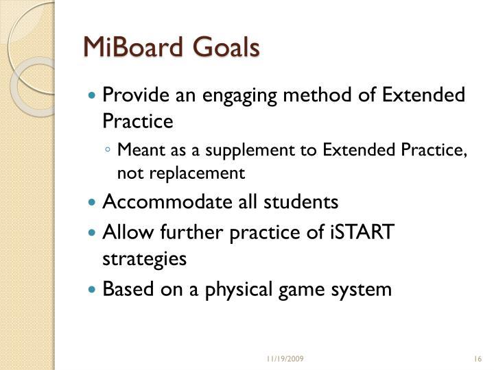 MiBoard Goals