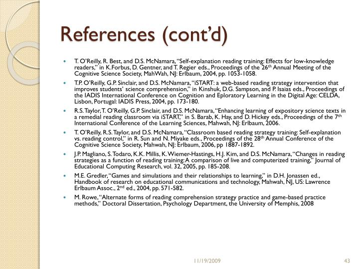 References (cont'd)