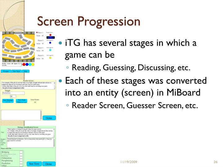 Screen Progression