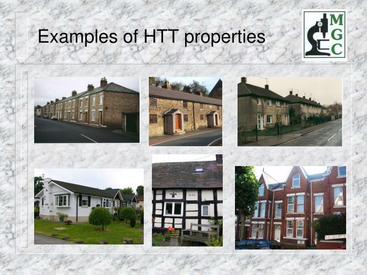 Examples of HTT properties