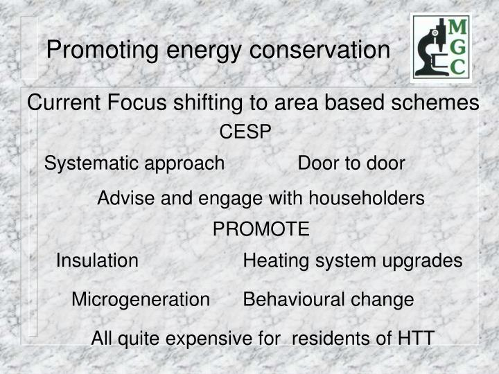 Promoting energy conservation