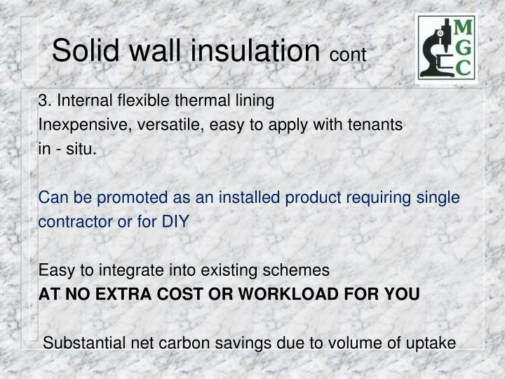 Solid wall insulation