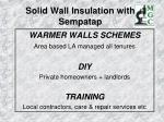 solid wall insulation with sempatap