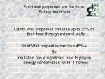 solid wall properties are the most energy inefficient