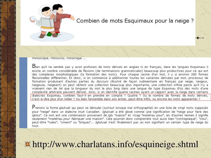 http://www.charlatans.info/esquineige.shtml