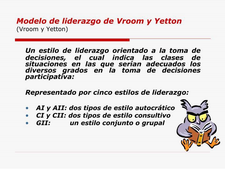 Modelo de liderazgo de Vroom y Yetton