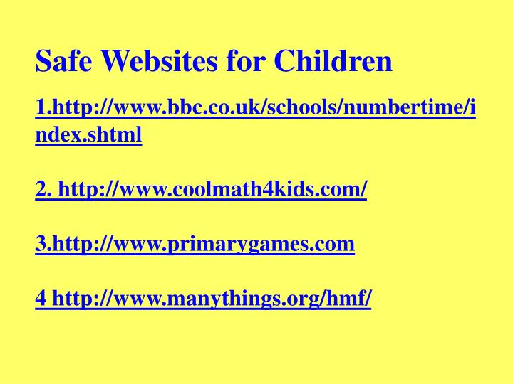 Safe Websites for Children