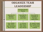 organize team leadership