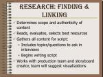 research finding linking