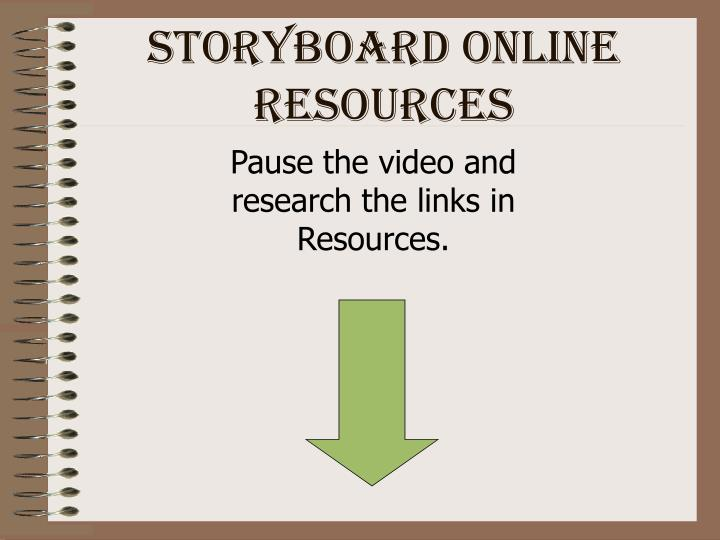 Storyboard Online Resources