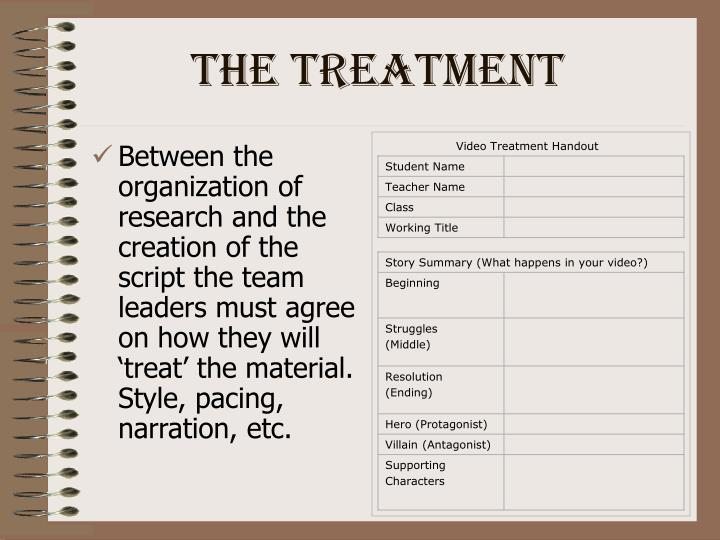 Video Treatment Handout