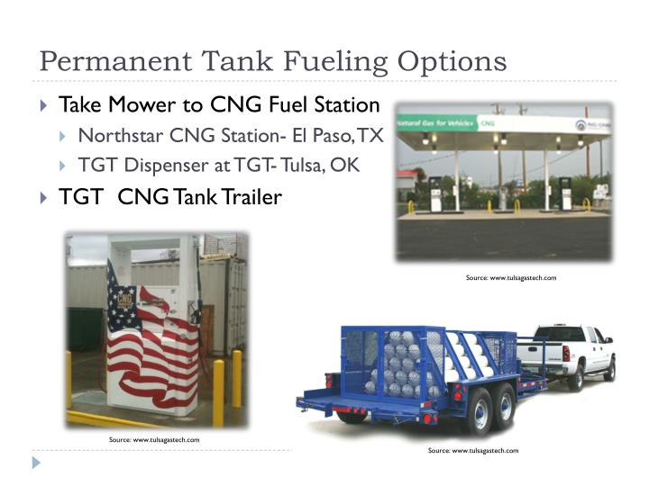 Permanent Tank Fueling Options