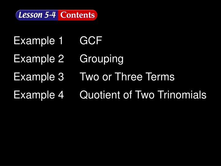 Lesson 4 Contents