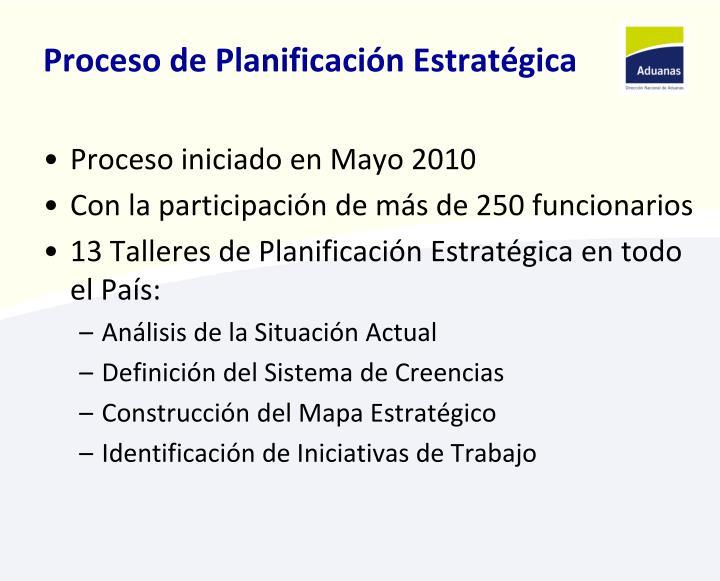 Proceso de Planificación Estratégica